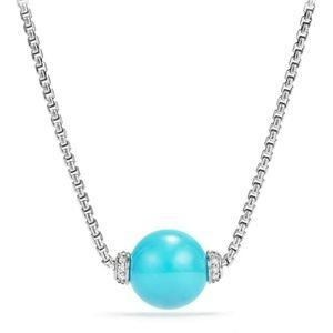 DAVID YURMAN Turquoise Solaris Silver Necklace